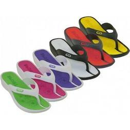 New Women/Juniors Water Flip Flops Sport Black/White Perfect