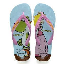 New Women Havaianas Mario Bros Flip Flops Sandal Flat Shoe I