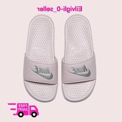 New Women's Nike Benassi JDI Slides Sandals Flip-Flops Purpl