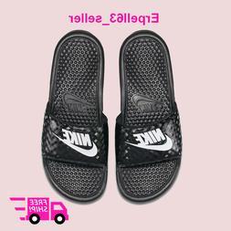 New Women's Nike Benassi JDI Slides Sandals Flip-Flops Black