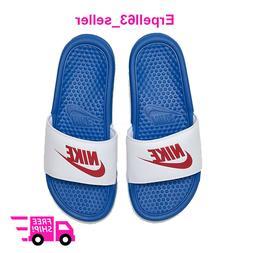 New Women's Nike Benassi JDI Slides Sandals Flip-Flops Brigh