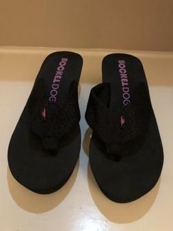 New Rocket Dog Women's Black Flip Flops 9M