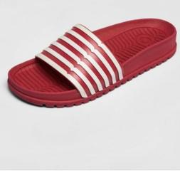New Women's Hunter for Target Red White Stripe Slides Shoes