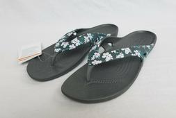 New Women's Crocs Kadee II Seasonal Flip Flops Tropical Flor