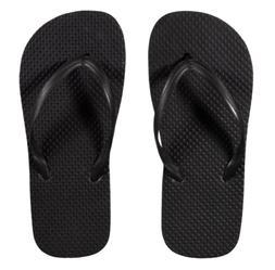 new women s onyx black rubber flip