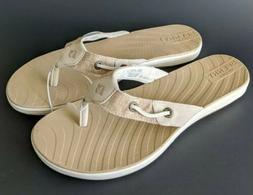 NEW Sperry Women's Seabrook Tan Sandals Flip Flops Thongs -