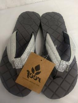 NEW! REEF Women's Size 8 Star Dreams II 2 Silver Gray Glitte