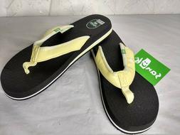NEW! Sanuk Women's Size 8 Yoga Mat 2 Hawaii Flip Flops Yello