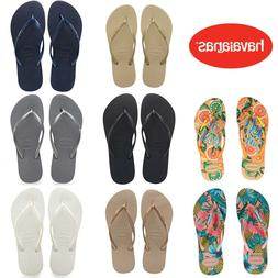 NEW HAVAIANAS WOMEN'S SLIM FLIP FLOPS - US AND EU SIZES