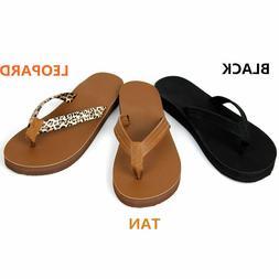 NEW Women's Summer Comfort Casual Thong Flat Flip Flops Sand