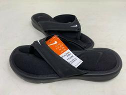 NEW! Nike Women's Ultra Comfort Thong Flip Flops Black #8826