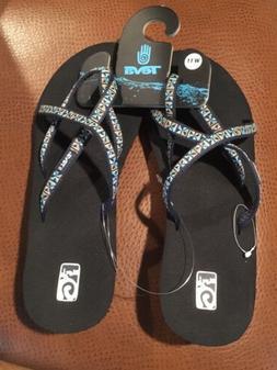 New Womens Teva Mush Mandalyn Wedge Ola 2 Mosaic Blue Sandal