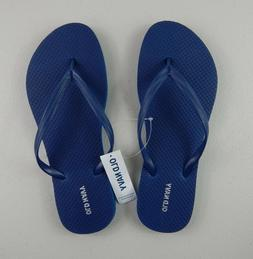 NEW Old Navy Womens Navy Thong Flip Flops Sandals Sizes 8 9