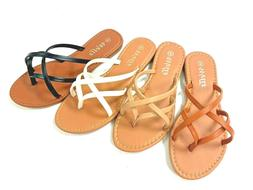 New womens sandals flip flops gladiator flats open toe thong