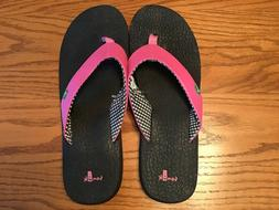 NEW WOMENS SANUK WATERMELON YOGA MAT SANDALS FLIP FLOPS SWS2