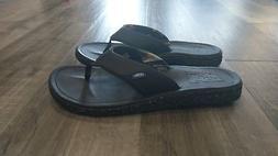nexpa synthetic men s black flip flops