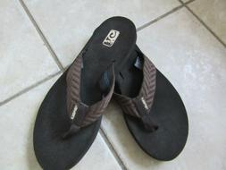 NWOB - TEVA Mush Flip Flops Women's Sz 8 - Brown Chevron