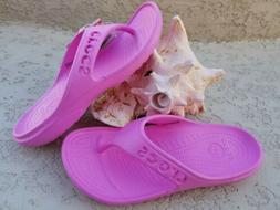 NWT CROCS Baya Women Flip Flops Sandals Party Pink SELECT SI