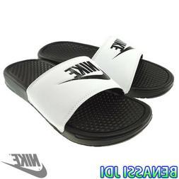 NWT Nike Benassi JDI White Black Men's Slides slide 9 - 14 f