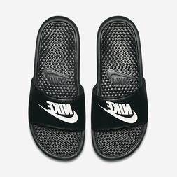 NWT Nike Benassi JDI Black white Men's Slides slide 8 9 11 1