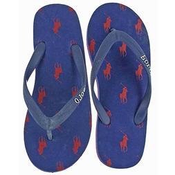 NWT Polo Ralph Lauren Boys Flip Flop Beach Sandals Size 4