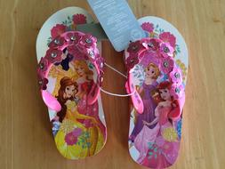 NWT Disney Store Princess Flip Flops Sandals Girl Shoes Arie