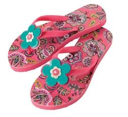NWT Vera Bradley Flip Flops in Call Me Coral Rubber Sandals