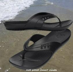 NWT CROCS Kadee Women Flip Flops Sandals Black SELECT SIZE
