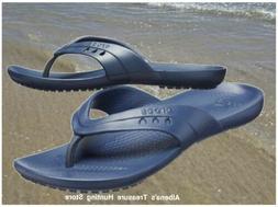 NWT CROCS Kadee Women Flip Flops Sandals Navy SELECT SIZE