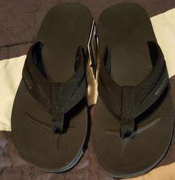 NWT -- Men's Volcom Draft Sandal flip flop size 8 black