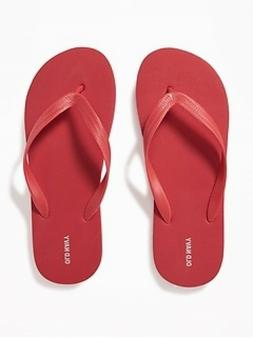 NWT Men's FLIP FLOPS Old Navy Sandals SIZE 12-13 RED Shoes p