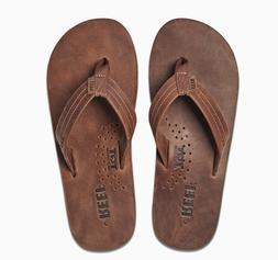 NWT Mens REEF Draftsmen Leather Flip Flops Sandals 9 10 11 B