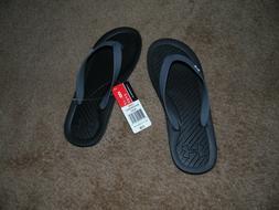 NWT Mens Under Armour Flip Flop Thong Sandals size USA 8 Bla