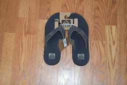 NWT Mens REEF Phantom Brown Leather Upper Cushion Sandals Sh