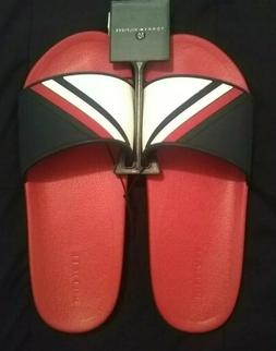 NWT! TOMMY HILFIGER Mens Sz 10 Earthy Slides Athletic Sandal