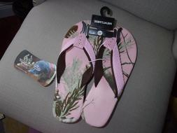 nwt realtree womans pink flip flops choose