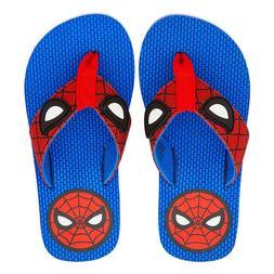 NWT Disney store Boy Spiderman Flip Flops Sandals Shoes Aven