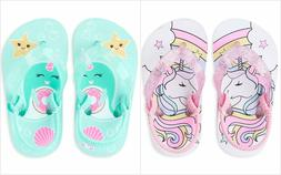 NWT The Childrens Place Unicorn Toddler Girls Flip Flops San