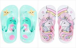 NWT The Childrens Place Unicorn Toddler Girls Flip Flops San