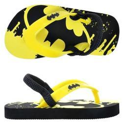 NWT Toddler Boy DC COMICS BATMAN GRAPHIC EVA Flip-Flops Sand