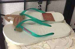 "NWT Havaianas Top Women's Hi Quality ""Green Lake"" Logo Slim"