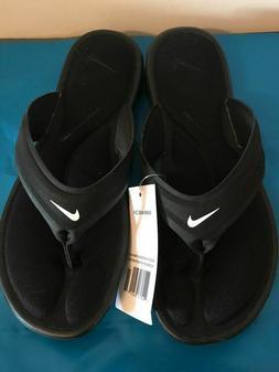 NWT Nike Women's Ultra Comfort Thong Sandals womens 9 BLACK