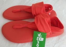 NWT! Sanuk Womens Yoga Sling 2 Spectrum Orange Sandals Flip