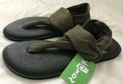 NWT! Sanuk Yoga Sling 2 Dark Olive Sandals Flip Flops Shoes