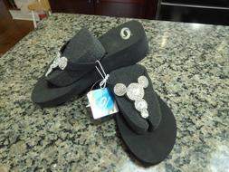 o'rageous high flip flops for women.