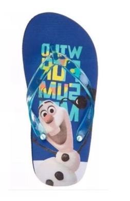 Disney Olaf Frozen Flip-Flops Little Boys/TODDLER Size 10