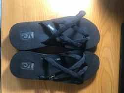 Teva Olowahu Mush Flip Flops Sandals Women's Size Black