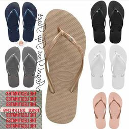 Original HAVAIANAS Flip Flops Women Slim with crystal