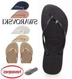 Original HAVAIANAS Slim Flip Flops Women with Crystal Swarov