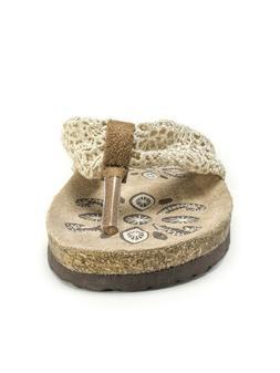 Original Muk Luks Women's Willa Thong Flip Flop Sandals Cork